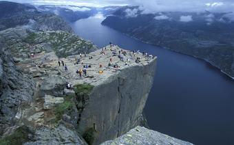 Klif Prekestolen o wysokości 604 metrów